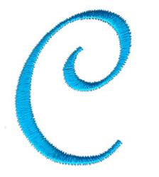 Classic Monogram Letter C embroidery design