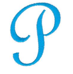 Classic Monogram Letter P embroidery design
