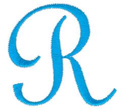 Classic Monogram Letter R embroidery design