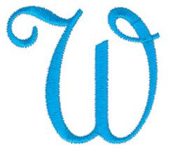 Classic Monogram Letter W embroidery design