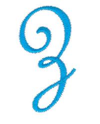 Classic Monogram Letter Z embroidery design
