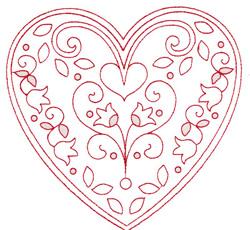 Tulip Heart embroidery design