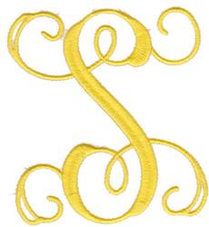 "Elegant 4"" S embroidery design"