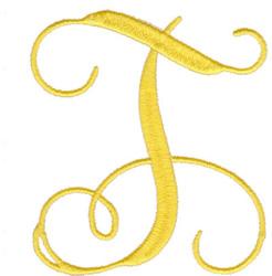"Elegant 4"" T embroidery design"