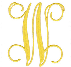"Elegant 4"" W embroidery design"