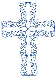 Bluework Cross embroidery design