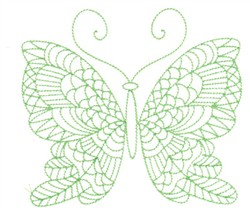 Butterfly Greenwork embroidery design