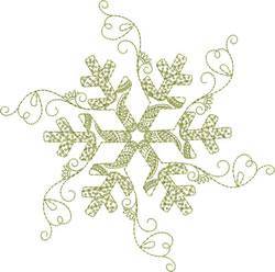 Redwork Snowflake embroidery design