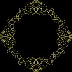 Pretty Frame embroidery design