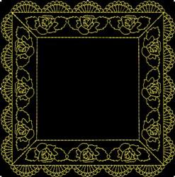 Box Frame embroidery design