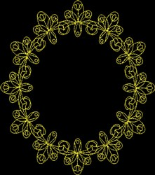 Frame Circle embroidery design