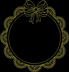 Fame With Bow embroidery design