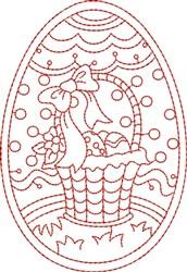 Redwork Easter Basket embroidery design