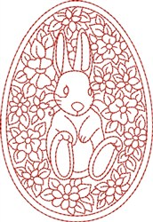 Redwork Bunny embroidery design