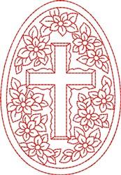 Redwork Egg embroidery design
