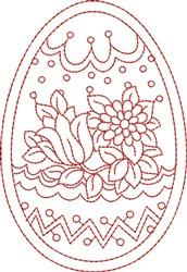 Floral Easter Egg embroidery design