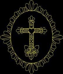 Fancy Cross embroidery design