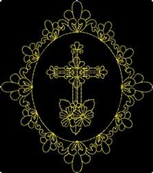 Beautiful Cross embroidery design