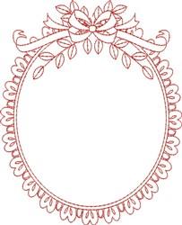Elegant Frame embroidery design