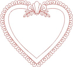 Frame Heart embroidery design