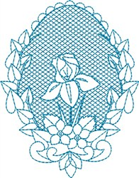 Floral Egg embroidery design