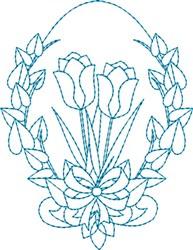 Tulip Egg embroidery design