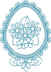 Fancy Egg embroidery design