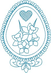 Decorated Egg embroidery design