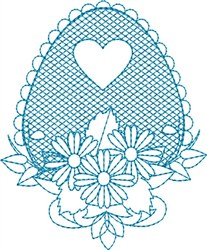 Daisy Egg embroidery design