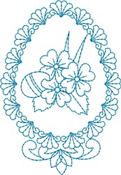 Elegant Egg embroidery design