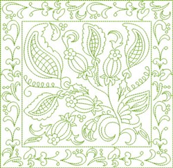 Russian Floral Block embroidery design