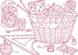 Sewing Supply Block embroidery design