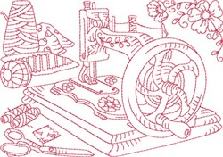 Antique Sewing Machine embroidery design