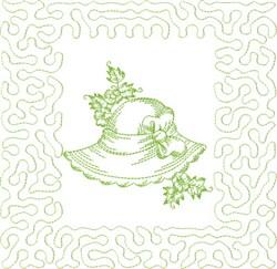 Garden Hat Block embroidery design