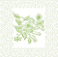 Garden Tools Block embroidery design