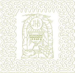 Religious Chalice Block embroidery design