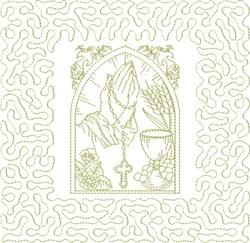 Religious Prayer Hands embroidery design