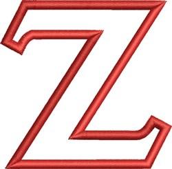 Greek Font Zeta embroidery design