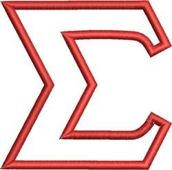 Greek Font Sigma embroidery design