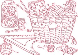 Sewing Tools Block embroidery design