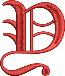 Grand English Monogram Y embroidery design