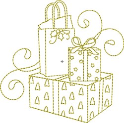 Christmas Time Presents embroidery design