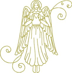 Christmas Time Angel embroidery design