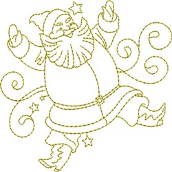 Christmas Time Santa embroidery design
