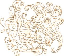 Hen Quilt Block embroidery design