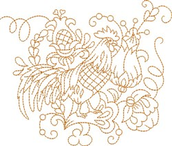 Quilt Square Hen embroidery design