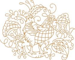 Quilt Block Chicken embroidery design
