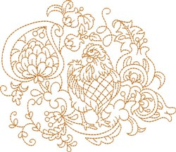 Quilt Square Chicken embroidery design