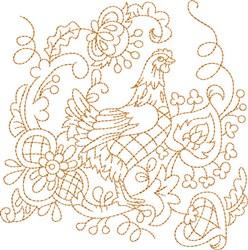 Quilt Chicken embroidery design