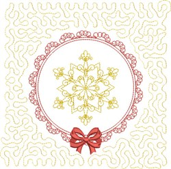 Winter Quilt Block embroidery design